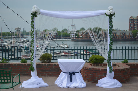 White Crystal Ceremony Arch Rental Severn Maryland Gala Parties Inc.