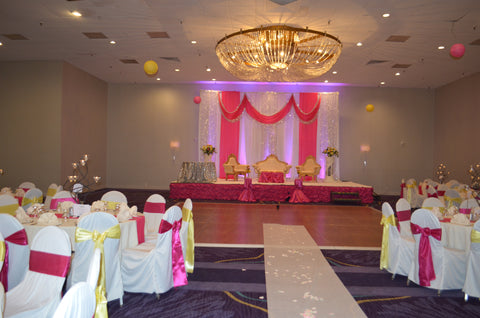 Pink White Silver Wedding Event Backdrop Rental Severn MD Baltimore Maryland Decorator Decor