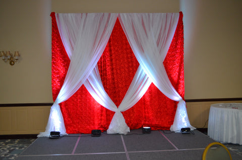Red White Head Table Reception Backdrop Rental Party Decor Decorator Severn MD