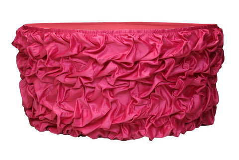 Stylish Fuchsia Table Skirt