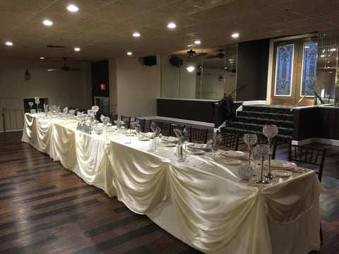 headtable draping wedding event rentals Severn, Maryland