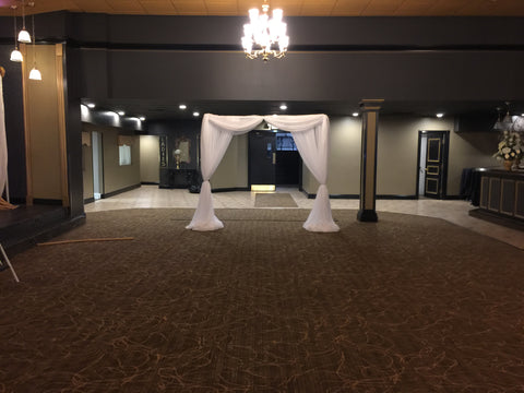 White Entance Arch Draping Reception Party Wedding Ceremony Event Decor Decorator Rentals Severn MD