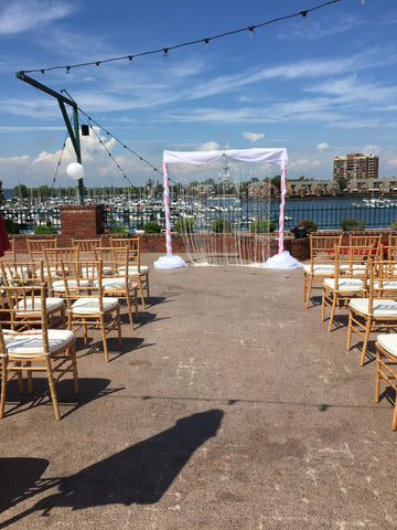 Wedding Ceremony Arch Draping Rental Severn MD