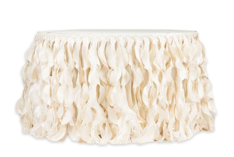 Ivory Chic Table Skirt Wedding Event Rental Maryland