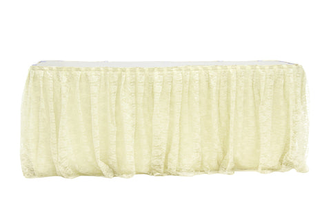 Ivory Lacework Table Skirt