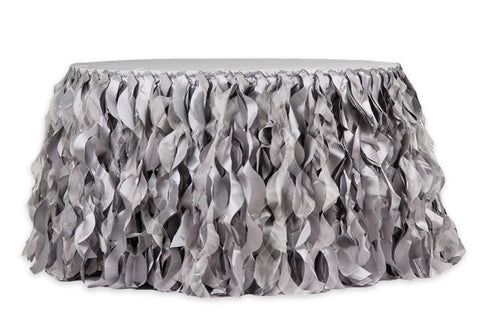 Chic Silver Table Skirt