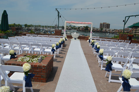 Ceremony Arch Floral Draping Rental Severn Maryland