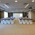 IVory Ceremony Backdrop Arch Wedding Rental Severn MD Pipe and Drape Decor Decorator