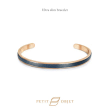 Load image into Gallery viewer, Engravable Ultra Slim Leathered-Bangle in Rose Gold