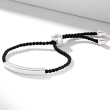 Load image into Gallery viewer, Nylon bracelet with an engravable silver nameplate
