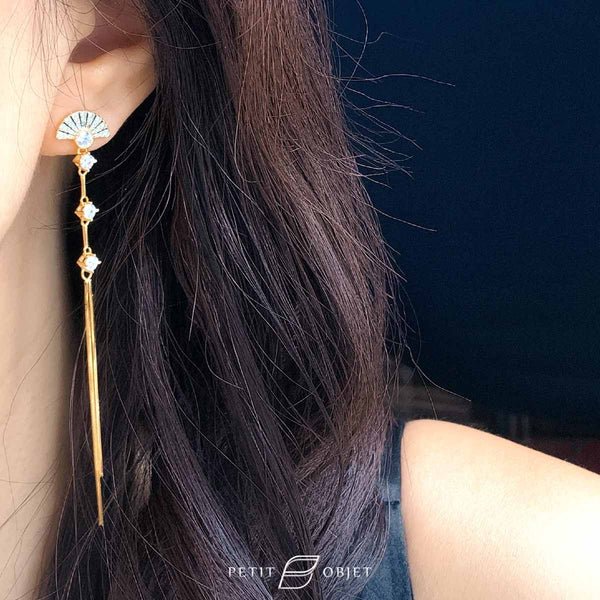 Gold Chain Earrings E036