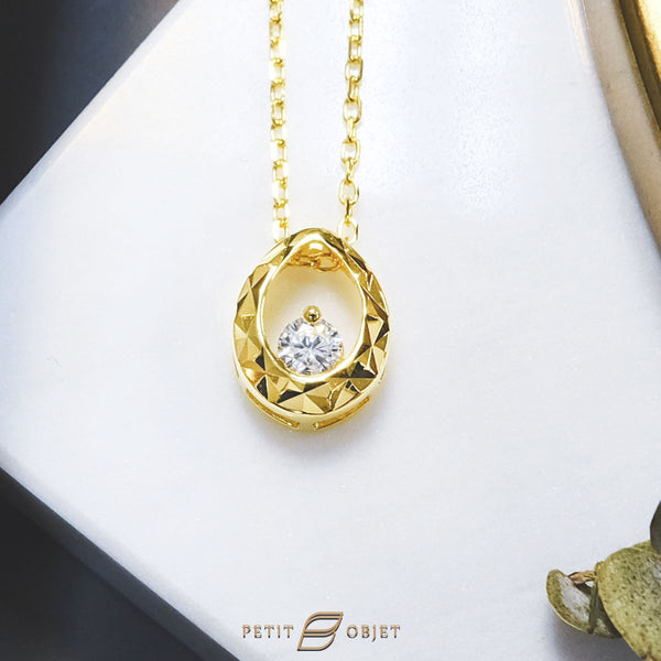 Sparkling Gold Necklace N036