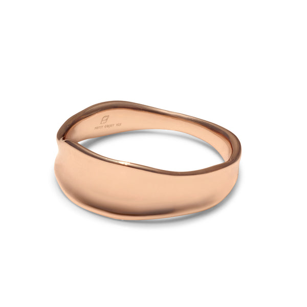 Sculpted, organic rose gold ring