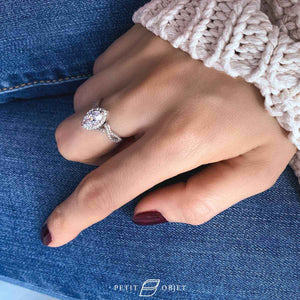 Intertwined Pave Diamond Ring R037
