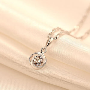 Rose diamond pendant necklace