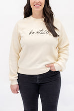 Load image into Gallery viewer, Be Still Cozy Cropped Sweatshirt