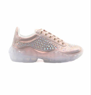 Open image in slideshow, Rozay Rose Gold Sneakers