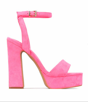 Open image in slideshow, Disco Girl Pink Heels