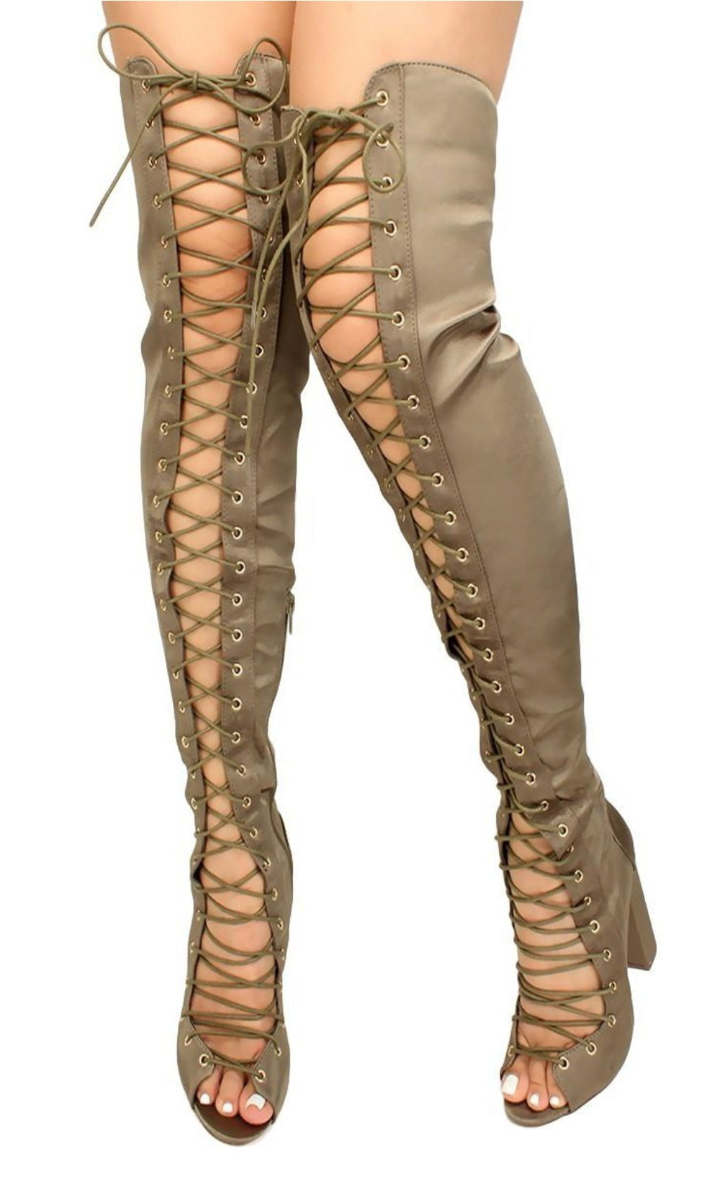 Olive Thigh High Boot