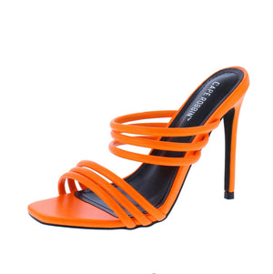 Open image in slideshow, Highlighter Orange Heels