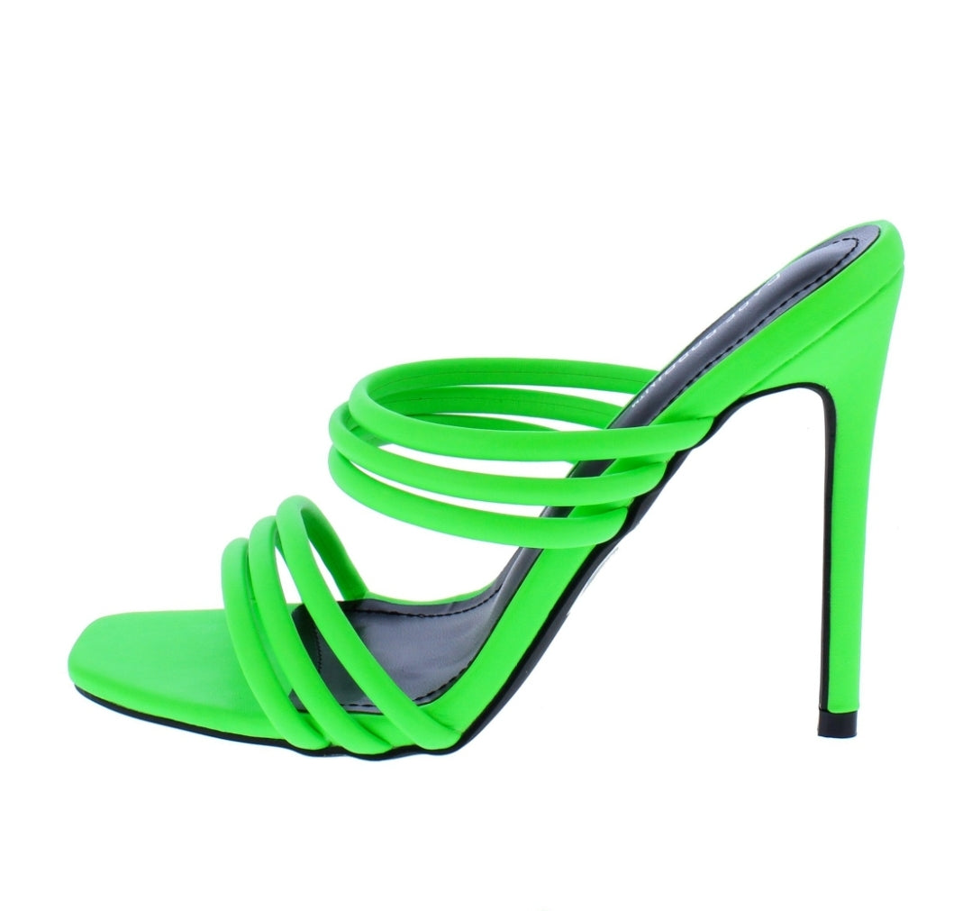 Highlighter Green Heels