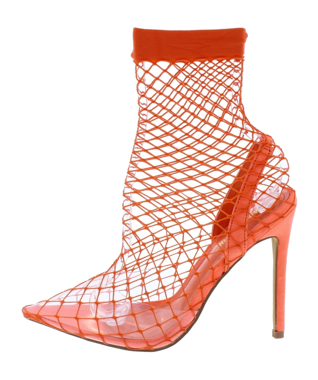 Orange Netted Heels