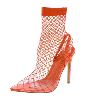 Open image in slideshow, Orange Netted Heels
