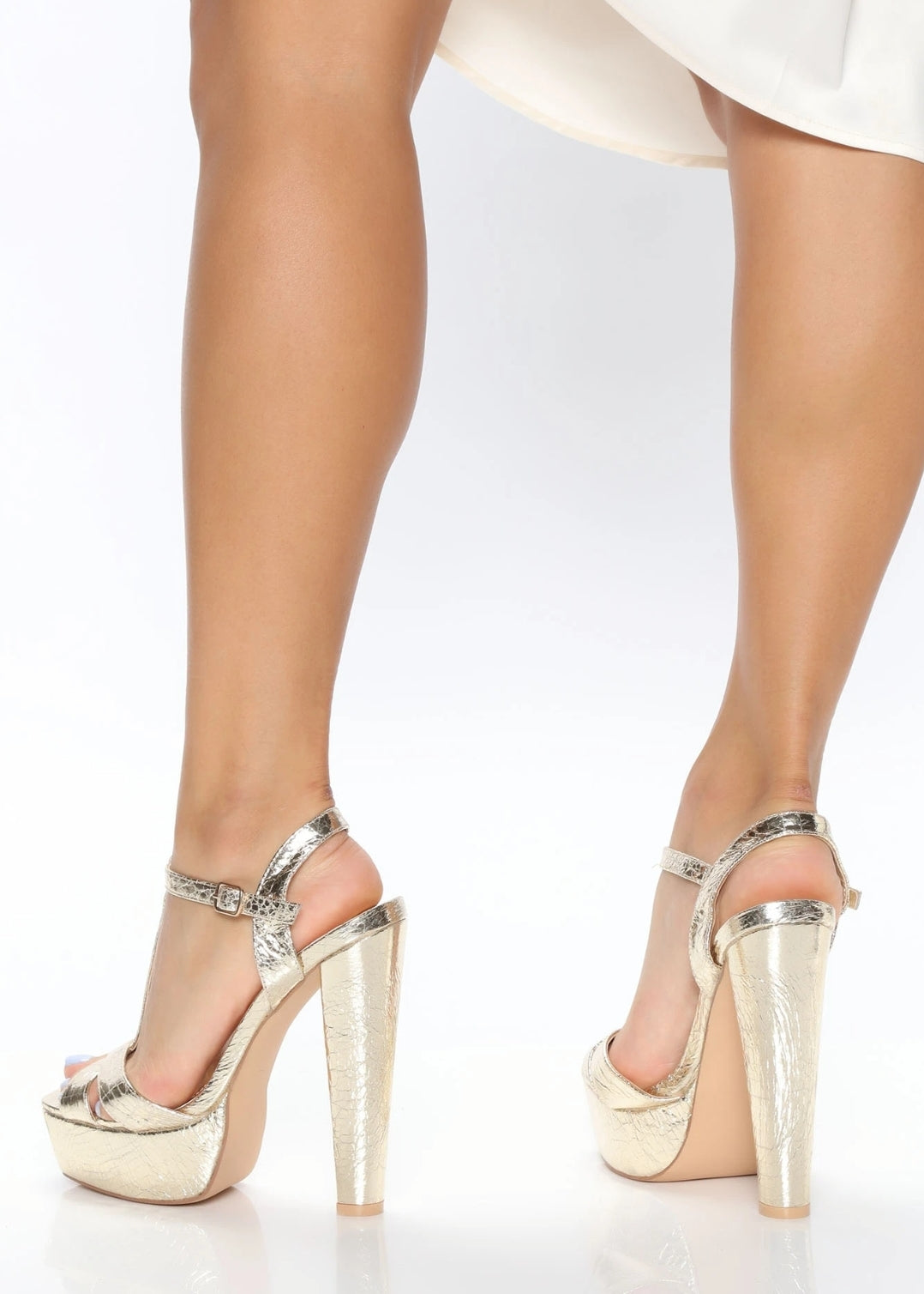Carrie Champagne Gold Heels