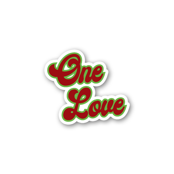 One Love Sticker | Weed Sticker, Cannabis, Gift For Stoners, Weed Smokers, Hippie, Marijuana, Hash, Pot