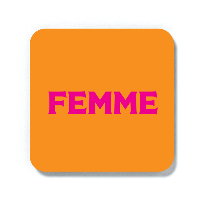 Femme Coaster | LGBTQ+ Gifts, LGBT Gifts, Gifts For Lesbians