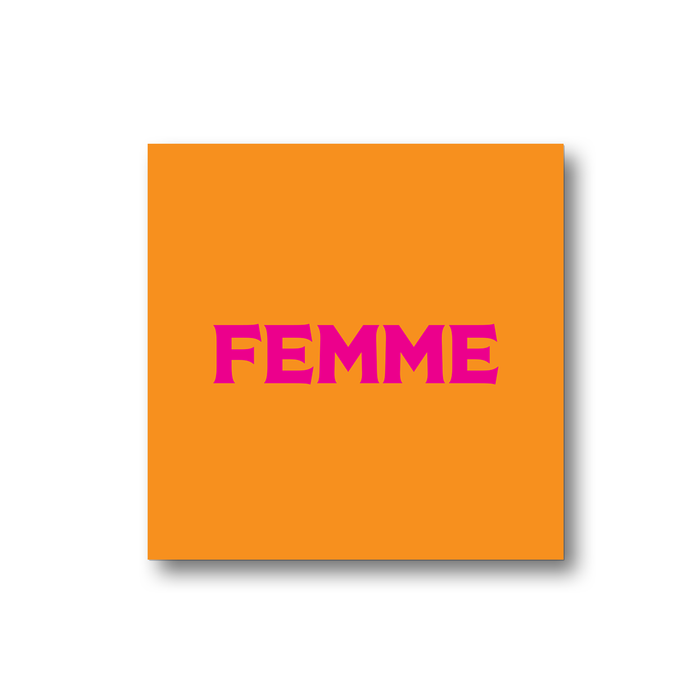 Femme Magnet | LGBTQ+ Gifts, LGBT Gifts, Gifts For Lesbians, Fridge Magnet, Pop Art