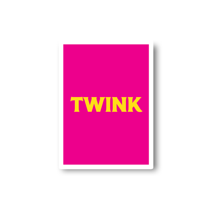 Twink Sticker | LGBTQ+ Gifts, LGBT Gifts, Gifts For Gay Men