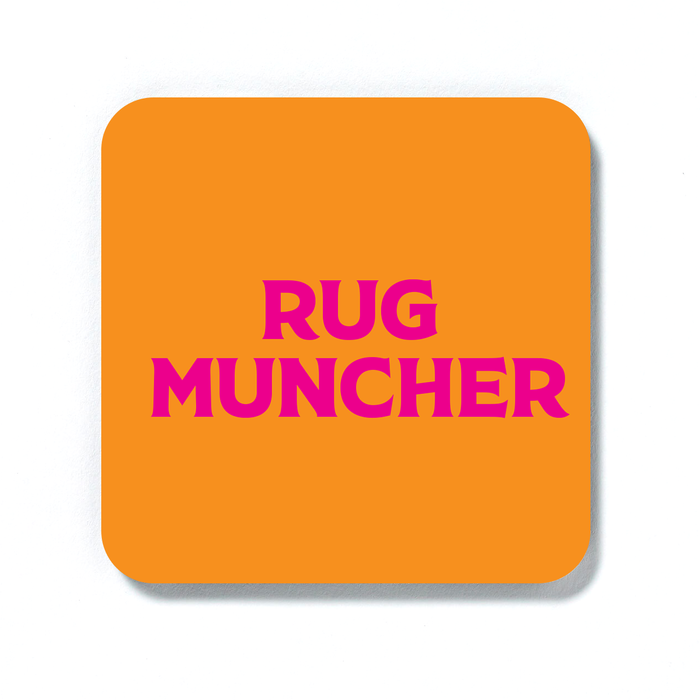 Rug Muncher Coaster | LGBTQ+ Gifts, LGBT Gifts, Gifts For Lesbians, Drinks Mat, Pop Art