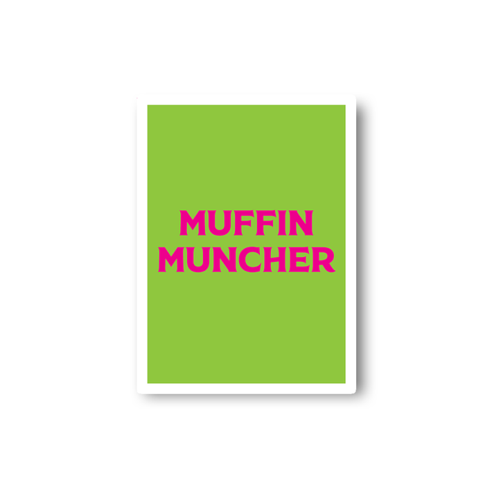 Muffin Muncher Sticker | LGBTQ+, LGBT Gifts For Lesbians, Pop Art, Pink, Green