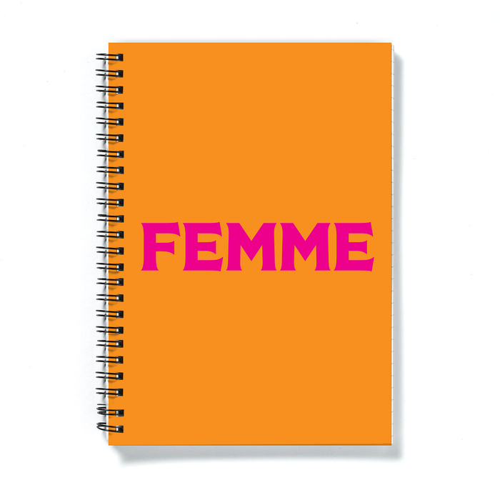Femme A5 Notebook | LGBTQ+ Gifts, LGBT Gifts, Gifts For Lesbians, Journal, Pop Art