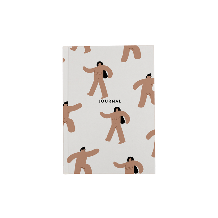 Abstract Nude Men And Women A5 Journal | Funny Nude Writing Journal, Naked Marching Men And Women Diary