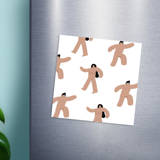 Abstract Nude Men And Women Magnet| Naked People Fridge Magnet, Rude Fridge Magnet, Abstract Nude Fridge Magnet, Funny Fridge Magnet, LGBT Magnet