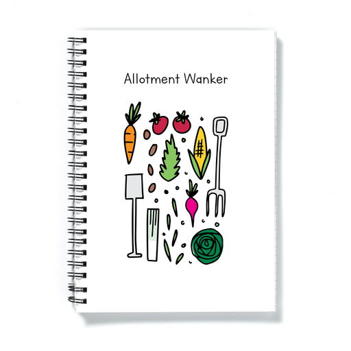 Allotment Wanker A5 Notebook | Rude, Funny Gift For Gardener, Allotment Owner, Garden Journal, Diary, Gardening Tools, Veggies, Plants