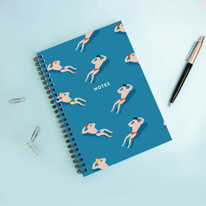 Bathing Men A5 Notebook | Swimming Men Notebook, Men In Speedos Notebook, LGBT Notebook