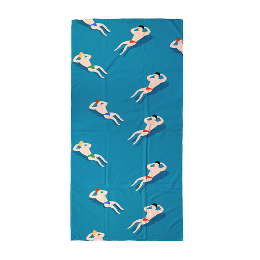 Bathing Men Beach Towel | LGBTQ+ Beach Towel, Buff Men Beach Towel, Art Deco, Retro Beach Towel