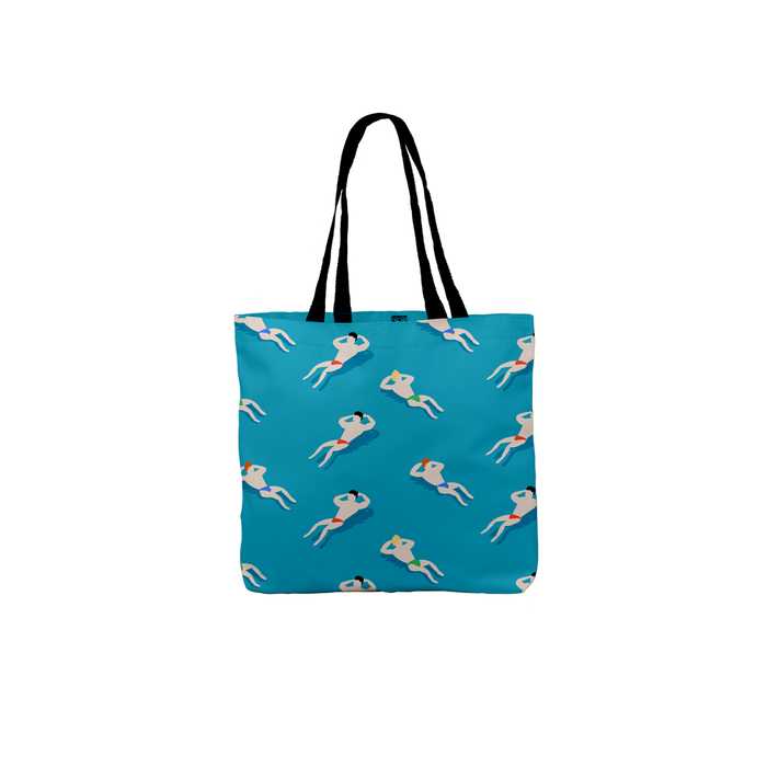 Bathing Men Tote | Canvas Shopping Bag, Beach Bag, Travel Tote Bag, Bathing Men, Art Deco, Retro Print
