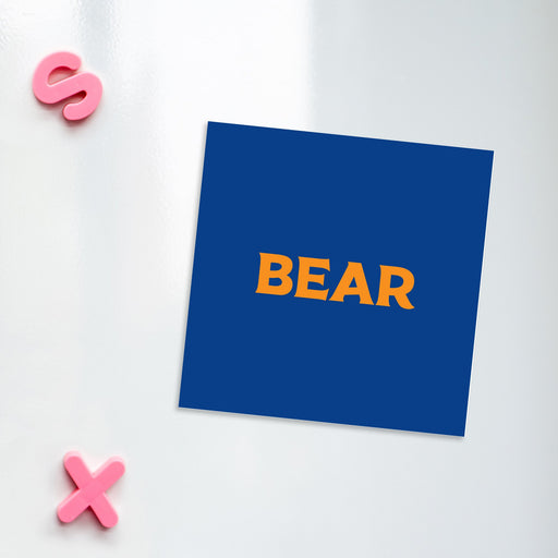 Bear Magnet | LGBTQ+ Gifts, LGBT Gifts, Gifts For Gay Men, Fridge Magnet, Pop Art