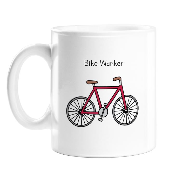 Bike Wanker Mug | Rude, Funny Gift For Cyclist, Biker, Cycling, Biking