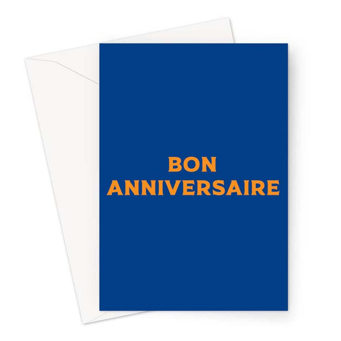 Bon Anniversaire Greeting Card | Brightly Coloured Happy Birthday Card, French Birthday Card, Pop Art