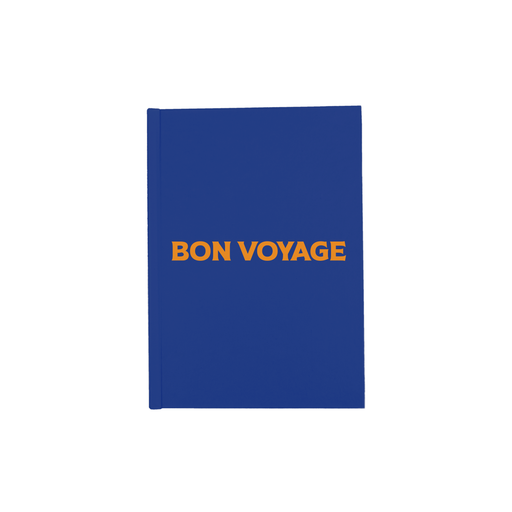 Bon Voyage A5 Journal | Hardback Blue Travel Journal, French, Pop Art, Travelling Diary