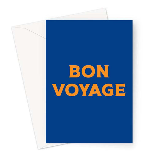 Bon Voyage Greeting Card | Brightly Coloured You're Leaving Card, Going Away Card, French Leaving Card, Good Luck On Travels, Pop Art