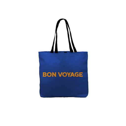 Bon Voyage Tote | Canvas Shopping Bag, Beach, Travel, Travelling, Good Luck On Travels, Pop Art