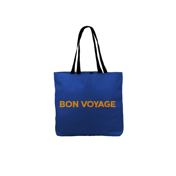 Bon Voyage Tote | Canvas Shopping Bag, Beach Bag, Travel Tote Bag, Beach Tote