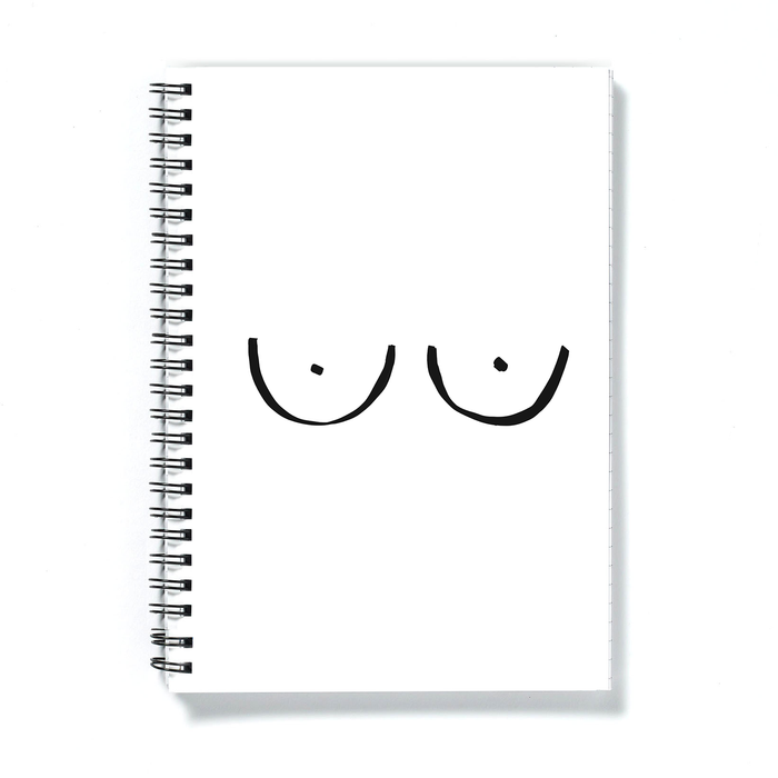 Boobs A5 Notebook | Monochrome Boob Print Journal, Rude Notepad, Abstract Nude Notebook, Female Empowerment, LGBTQ+