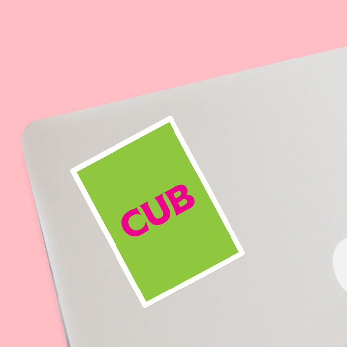 Cub Sticker | LGBTQ+ Gifts, LGBT Gifts, Gifts For Gay Men